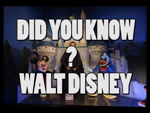 DID YOU KNOW || FACTS ABOUT WALT DISNEY || UNKNOWN FACTS ABOUT WALT DISNEY