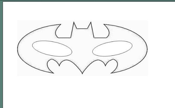 How To Make A Batman Mask Craft Gift Ideas Template Superhero