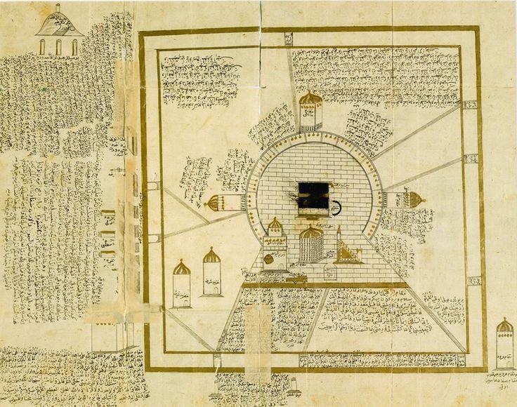 Kaaba-Kabe-An Ottoman Illustratınon of Mecca, Probably From a Manuscript of Muhyi Al-Din Lari's Futuh Al-Haramayn, Turkey, 18Th Century