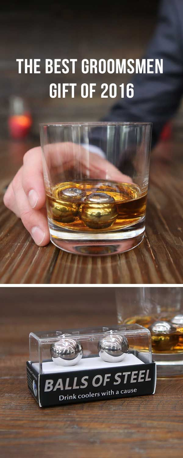 Looking for the perfect groomsmen gift? Look no further! Balls of Steel whiskey chillers are PERFECT for the occasion! Grab a set today and take 20% OFF your order using code PIN20!