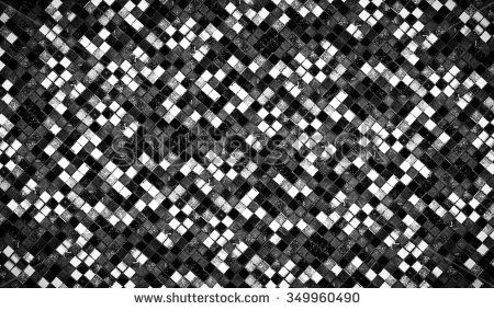 Tile Mosaic collage Tile Mosaic collage B&W Contrast - stock photo