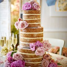 Put away that piping bag! We love the new trend for un-iced and oh-so-easy showstopper cakes. Our cake recipe is simple to adapt for your next celebration, read on and we'll show you how to slice, fill and stack like a pro!
