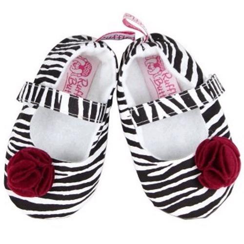 RuffleButts Zebra desenli, yumuşak kız bebek ayakkabıları çok yakında Bebekform.com'da...