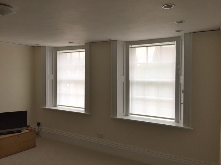 Bottom Up Roller Blinds Installed To Windows That Are Looking Right Onto  The Street In Lewes