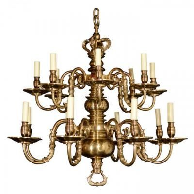 Marvin Alexander,Inc. Two tiered sixteen light brass Dutch chandelier with  tete-e - 9 Best Antiques / Chandeliers Images On Pinterest Antique