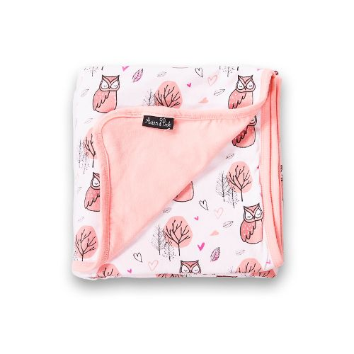 Woodland Owl Organic Baby Blanket