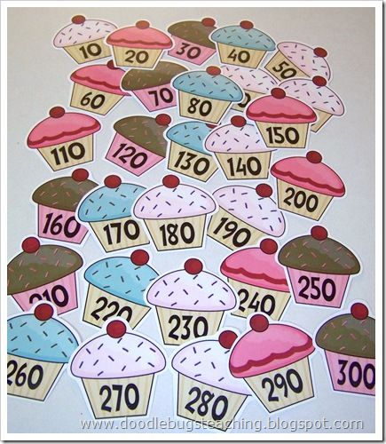 cupcake count by 10's free printable