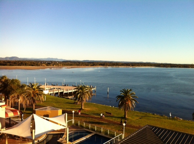 This was the view from my room at Rydges Port Macquarie. This a  great conference venue and with regular flights its easy to get to from Sydney
