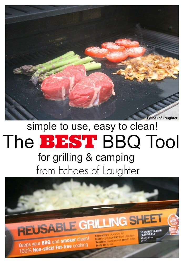The Best BBQ Tool for Summer Grilling-Resuable Grilling Sheets! Simple to use and easy to clean!
