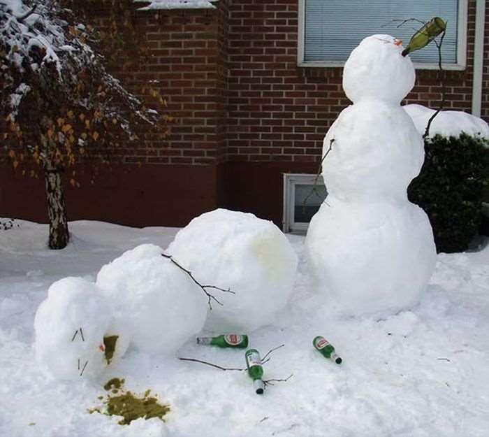 Creative Funny Snowman