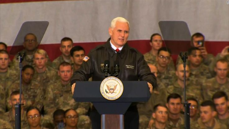 Vice President Mike Pence told US service members on Sunday that immigration talks between lawmakers and the White House couldn't proceed until the government reopens.