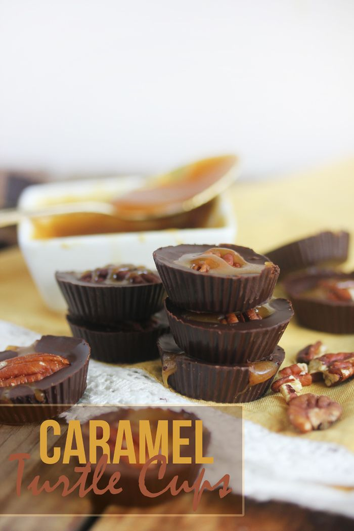 Caramel Turtle Cups #LexisCleanKitchen