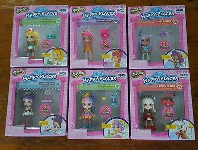 SHOPKINS HAPPY PLACES HOME COLLECTION 6 LIL SHOPPIE DOLL FIGURE LOT Melodine +