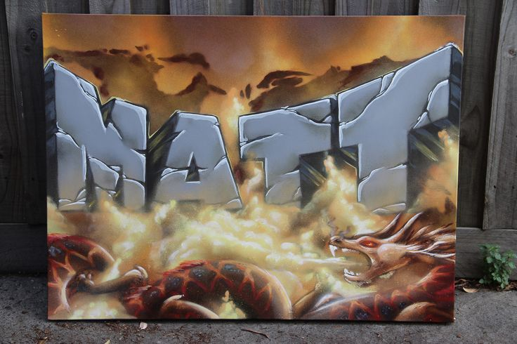 """Matt""  Canvas by #dubiz #Custom #canvas #made #graffiti #name #graffitiart #kidsbedroom #wallart #interiorstyling #interiordecor"
