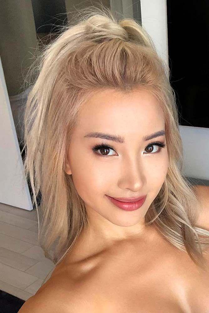 Mikie Hara, Asian, Women, Model, Pink Flowers, Hibiscus