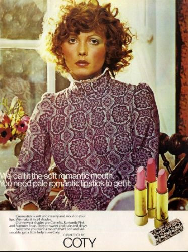 Coty Lipstick 1970 S Looks Like The Model Was Put Away