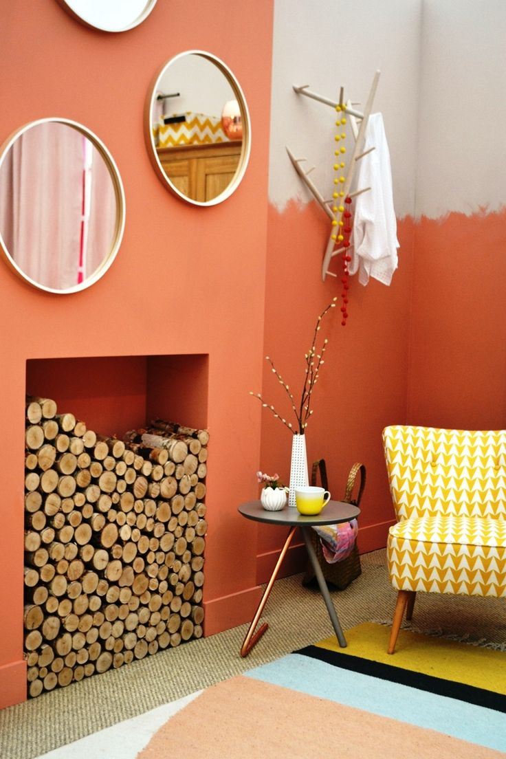 'Copper and clay' bedroom at the Ideal Home Show 2015, London