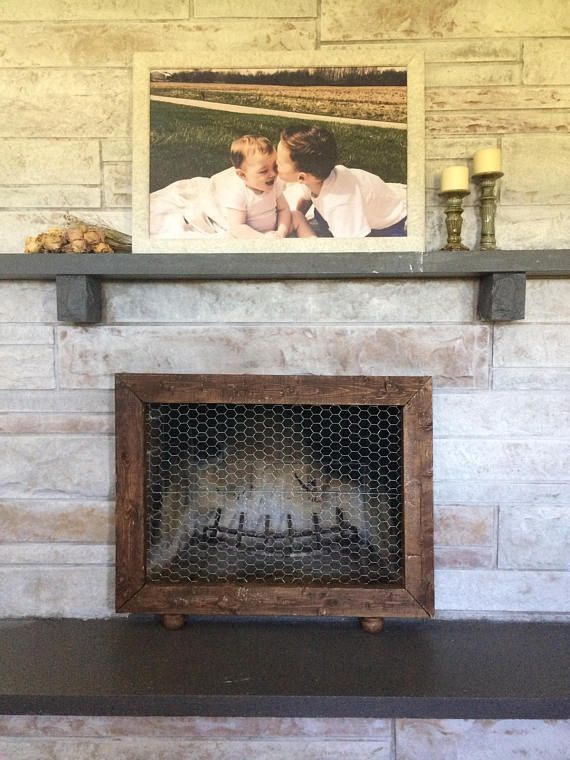 Custom Fireplace Screen/Frame