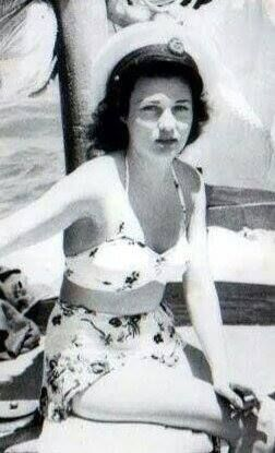 HRH Princess Fawzia of Egypt and Queen of Iran in a high waisted swimsuit with a nautical hat and a cigatrette. Looked like a movie star!! Stunning !.
