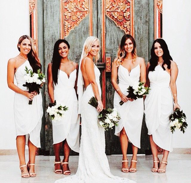 All white dress code wedding reception
