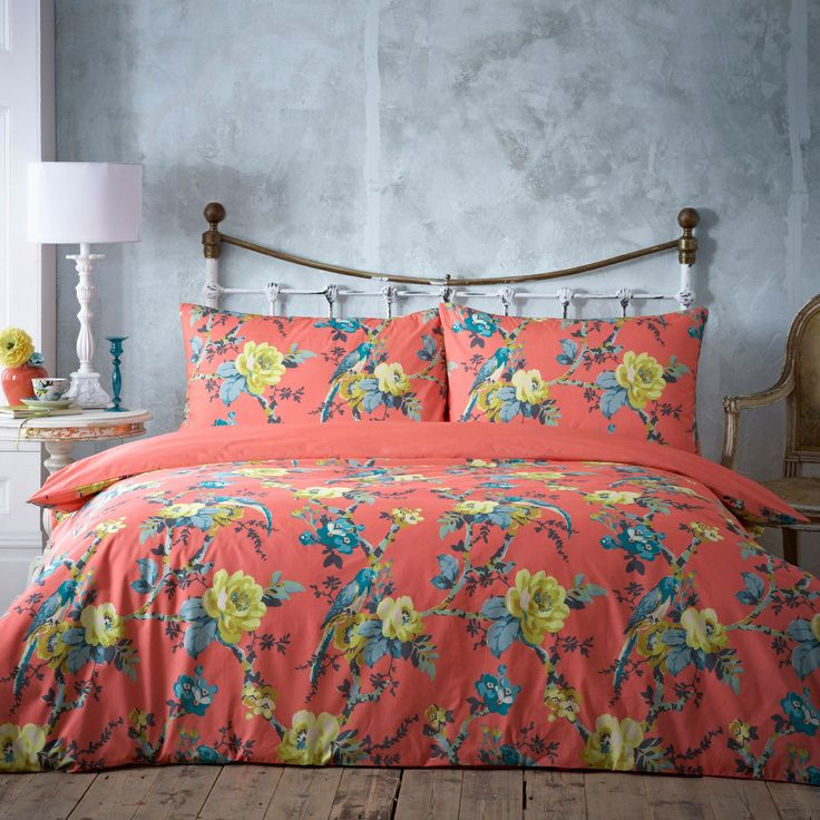 Butterfly Home By Matthew Williamson Coral 39 Parrots 39 Bedding Set At Bedroom