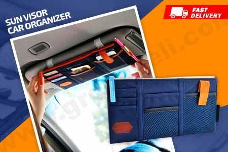 Aksesoris mobil murah Sun Visor Car Organizer hanya Rp 39.990 www.groupbeli.com/view.php?id=882
