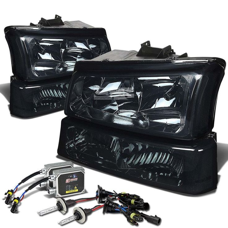 SMOKE HOUSING CLEAR SIGNAL HEADLIGHT+12000K HID KIT FOR 03-06 CHEVY SILVERADO in eBay Motors, Parts & Accessories, Car & Truck Parts | eBay