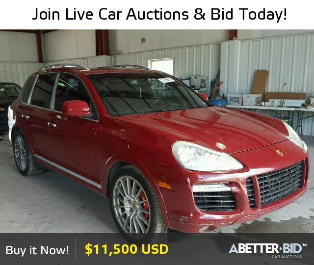 pin by a better bid car auctions on salvage exotic and luxury cars for sale porsche cayenne. Black Bedroom Furniture Sets. Home Design Ideas