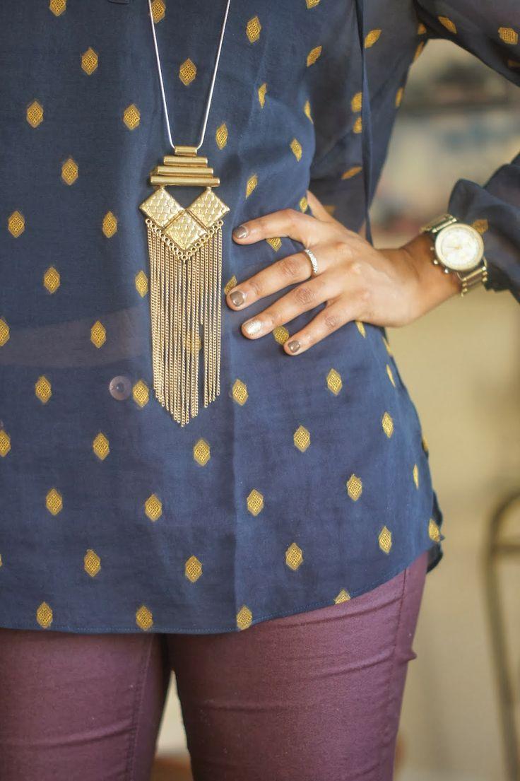 long necklace, fringe. #jewelry #necklace