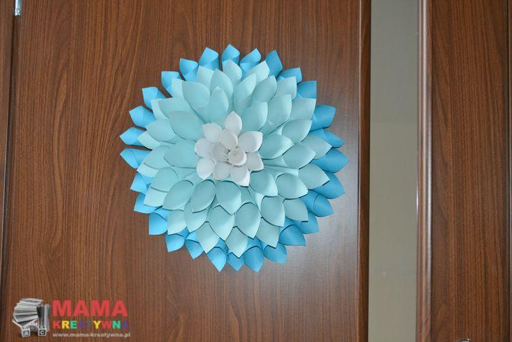 Dalia z papieru krok po kroku, papierowy kwiat, papierowa dalia.