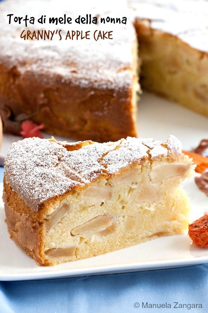 Torta di Mele della Nonna - a very classic #Italian style #apple #cake, soft, fruity, light and comforting.