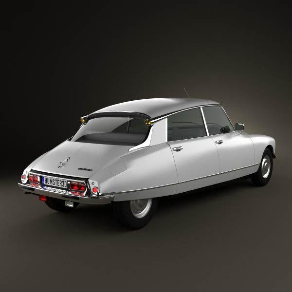 Citroen DS 4-door Sedan 1970 3d model