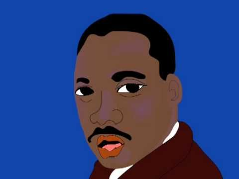 """Martin Luther King Jr.'s """" I Have A Dream Speech """" set to art and animation"""
