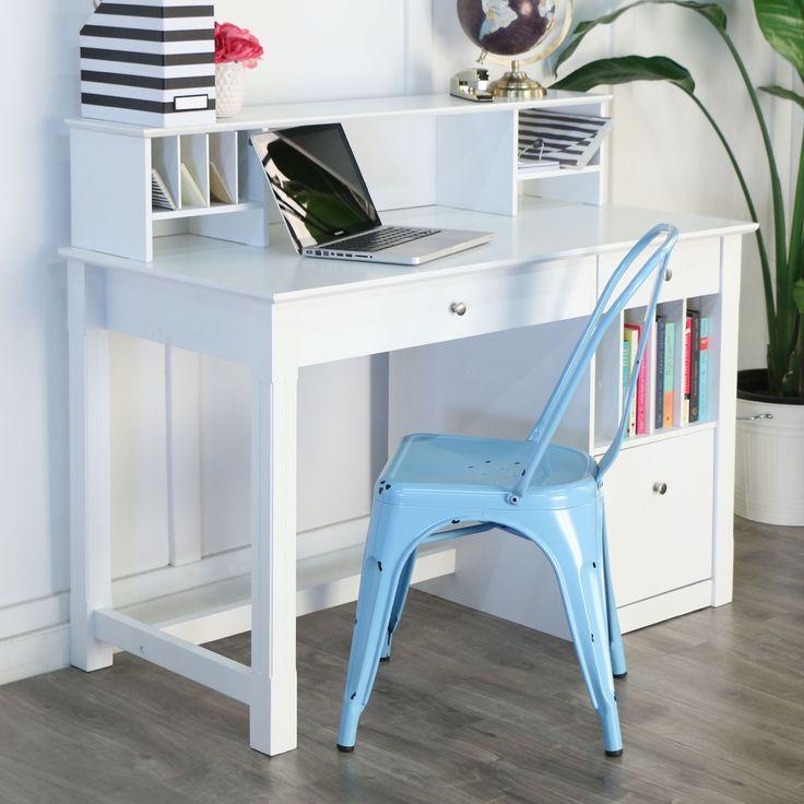 best 25+ white desk with hutch ideas on pinterest | white desks