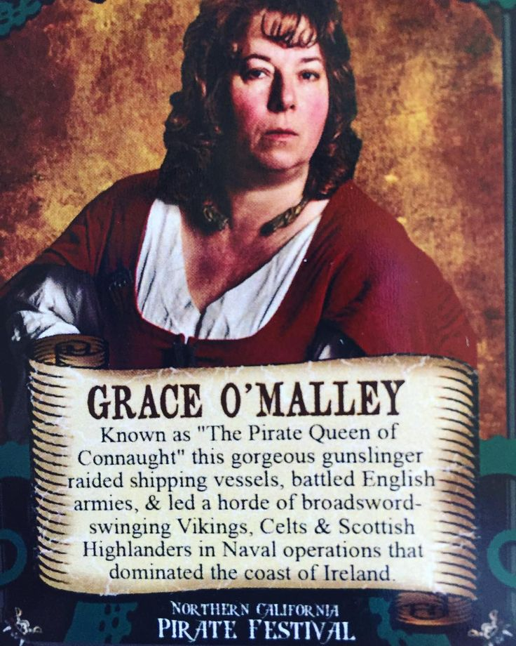 Arrgggh! Grace O'Malley, Famous Pirates! Ye best be ready fer Talk Like A Pirate Day. 19 September. Pirates!