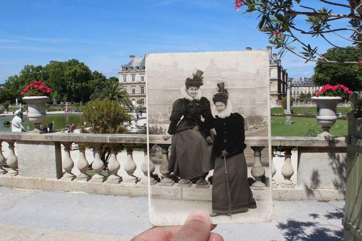 Oude foto's Parijs, een raam naar het verleden