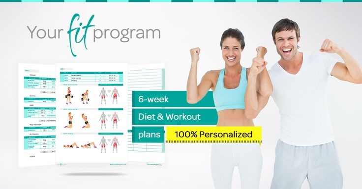 6-week Diet and Workout plan! Start today your transformation! www.YourFitProgram.com