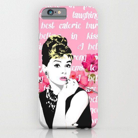 Audrey Hepburn Quote Pink 3 iphone case, smartphone