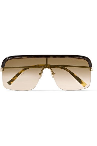 e86e5f0aba4 Cutler and Gross - D-frame gold-tone and acetate sunglasses in 2019 ...