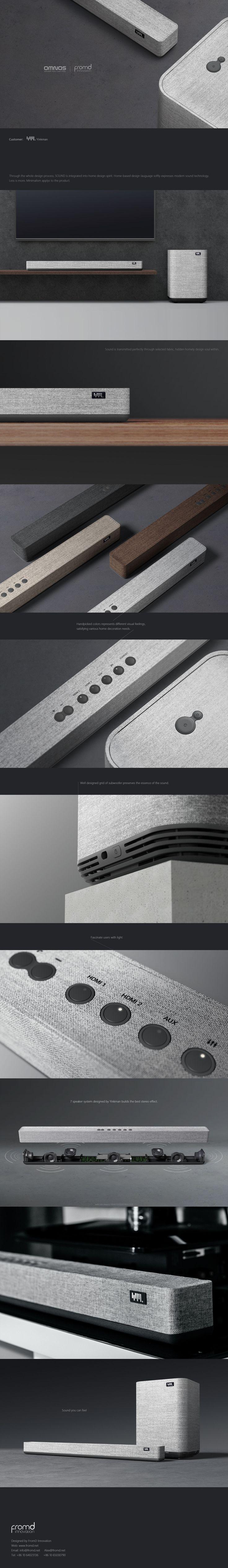 Product Design: Soundbar U0026 Subwoofer On Behance