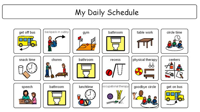 Free Printable Boardmaker Symbols | Mayer Johnson Daily Schedule Pictures