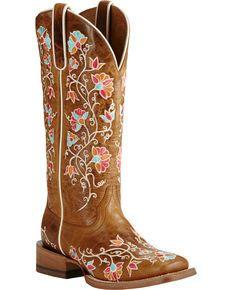 Ariat Womens Brown Carmelita Boots - Wide Square Toe, Brown