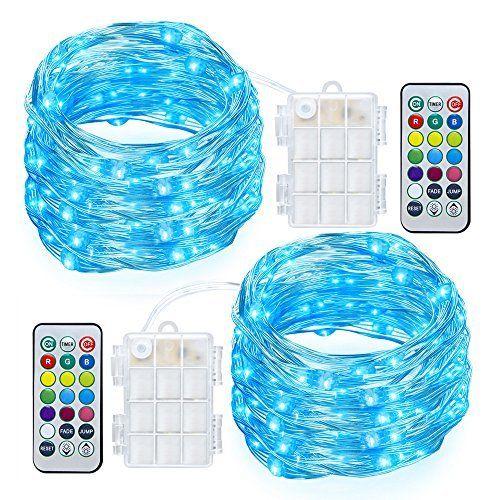 GDEALER 2 Pack RGB Multi Color Change String Lights Fairy Lights