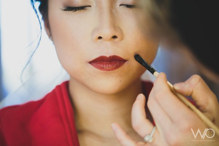 Red Lip Bridal Makeup - Queenstown | EVE Makeup Artistry