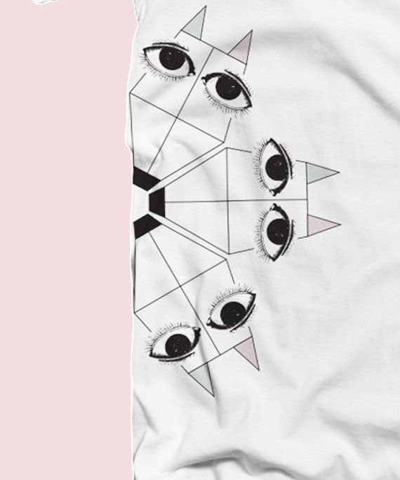 "Women organic tee ""The fox carousel"" 