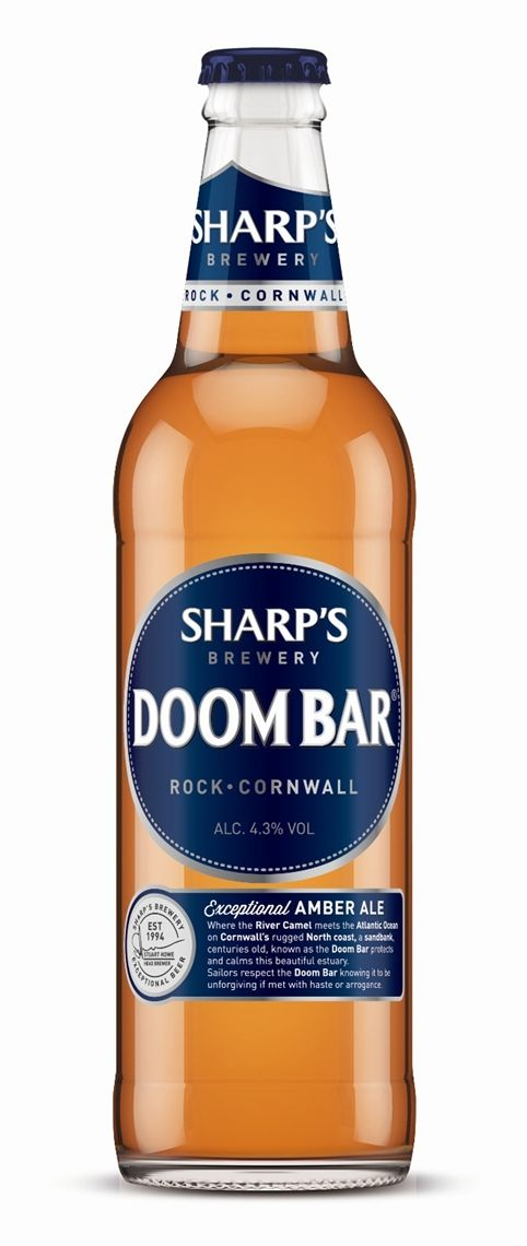 """DOOM BAR   Sharp's Brewery   Rock, Cornwall: 'Doom Bar bitter became the first official beer sponsor of the Oxford and Cambridge Boat Race between 2008 and 2012. Securing the """"Doom Bar"""" brand was cited as the reason that Molson Coors spent £20 million on their takeover of Sharp's Brewery in 2011; Doom Bar is now the largest cask ale brand in Molson Coors' portfolio.'     ✫ღ⊰n"""