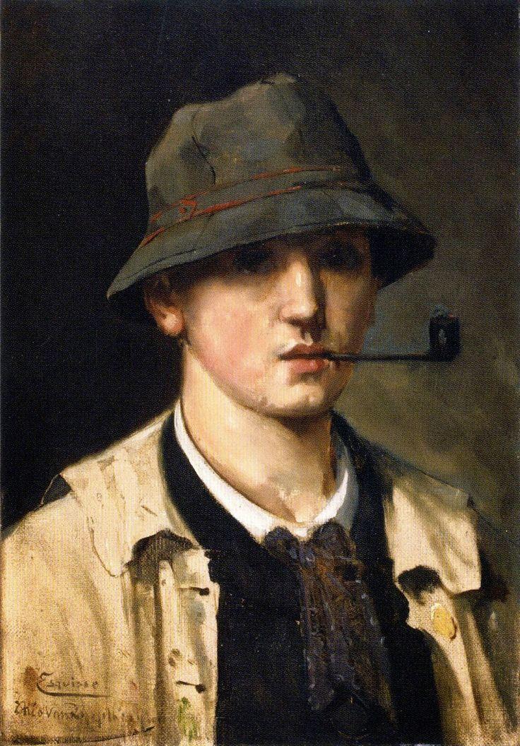 Theo van Rysselberghe (Belgian, 1862 - 1926) - Self portrait