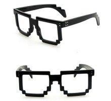 個性的面白いモザイク設計デザイン伊達メガネ大きいフレーム男女通用メガネフレームレンズ無し