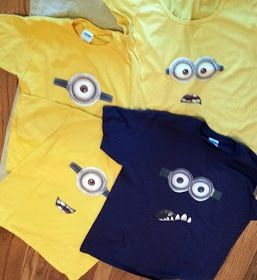 DIY Minion shirts. Can't wait to do this for my kid!