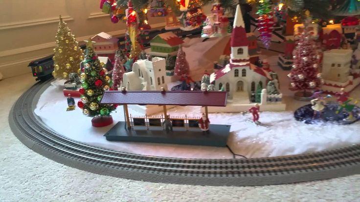 Lionel Polar Express Train Set under tree
